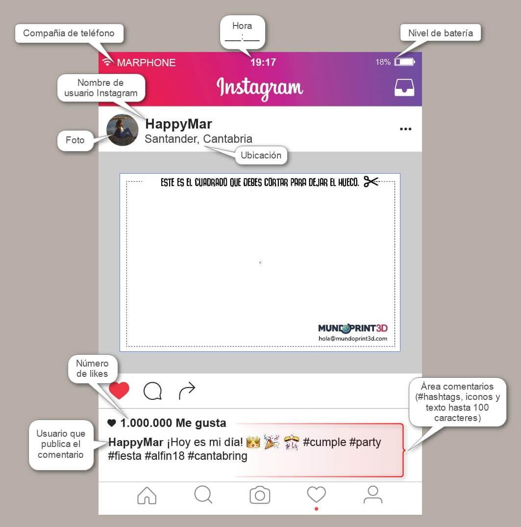 Marco photocall instagram personalizado – MundoPrint